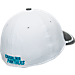 Back view of New Era Carolina Panthers NFL Training Camp 39THIRTY Flex Fit Hat in White/Team Colors