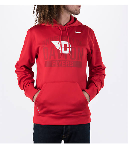 Men's Nike Dayton Flyers College Therma Fit KO Poly Hoodie