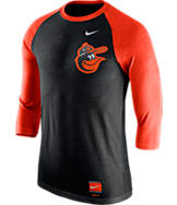 Men's Nike Baltimore Orioles MLB Cooperstown Raglan Baseball Shirt