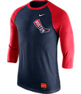 Men's Nike Boston Red Sox MLB Cooperstown Raglan Baseball Shirt