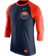 Men's Nike Houston Astros MLB Cooperstown Raglan Baseball Shirt