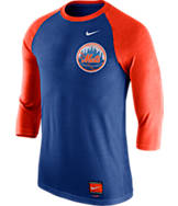 Men's Nike New York Mets MLB Cooperstown Raglan Baseball Shirt