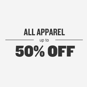 All Apparel Up To 50% Off
