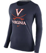 Women's Nike Virginia Cavaliers College Logo Long Sleeve T-Shirt