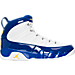 Right view of Men's Air Jordan Retro 9 Basketball Shoes in White/Tour Yellow/Concord