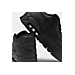 Front view of Men's Nike Air Max 90 Leather Running Shoes in Black