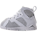 Left view of Boys' Toddler Jordan Retro 7 Basketball Shoes in Pure Platinum