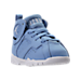 Three Quarter view of Boys' Toddler Jordan Retro 7 Basketball Shoes in University Blue - Pantone