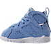 Left view of Boys' Toddler Jordan Retro 7 Basketball Shoes in University Blue - Pantone