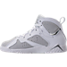 Left view of Boys' Preschool Jordan Retro 7 Basketball Shoes in Pure Platinum