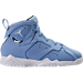 Right view of Boys' Preschool Jordan Retro 7 Basketball Shoes in University Blue/White/Black