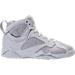 Right view of Boys' Grade School Air Jordan Retro 7 Basketball Shoes in Pure Platinum