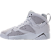 Left view of Boys' Grade School Air Jordan Retro 7 Basketball Shoes in Pure Platinum