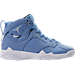 Right view of Boys' Grade School Air Jordan Retro 7 Basketball Shoes in University Blue/White/Black
