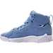 Left view of Boys' Grade School Air Jordan Retro 7 Basketball Shoes in University Blue/White/Black