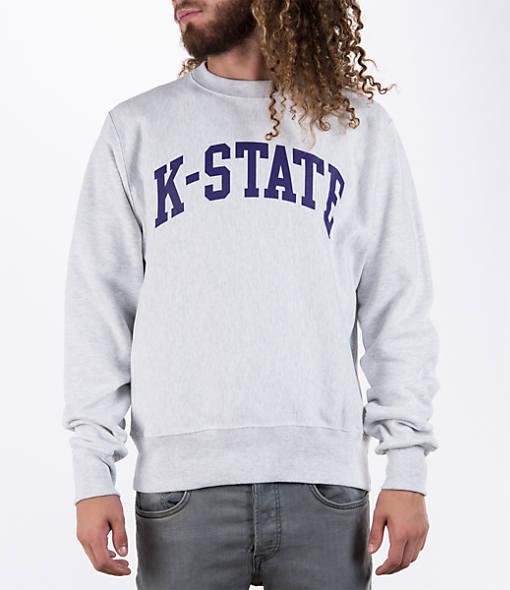 Men's Champion Kansas State Wildcats College Weave Crew Sweatshirt