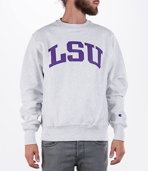 Men's Champion LSU Tigers College Weave Crew Sweatshirt