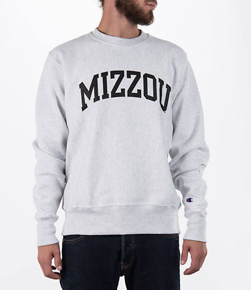 Men's Champion Missouri Tigers College Weave Crew Sweatshirt