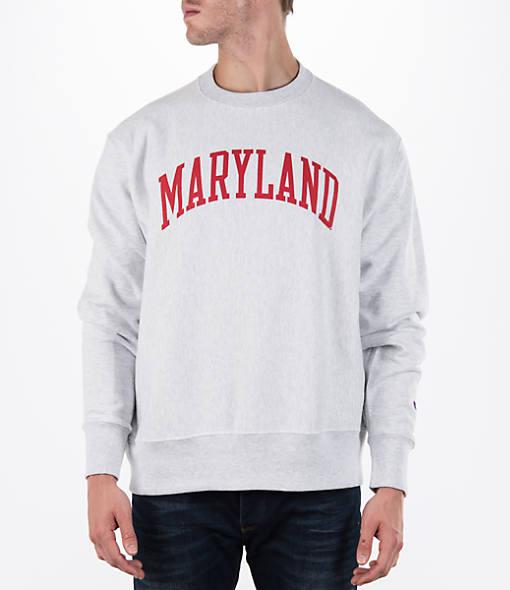 Men's Champion Maryland Terrapins College Weave Crew Sweatshirt