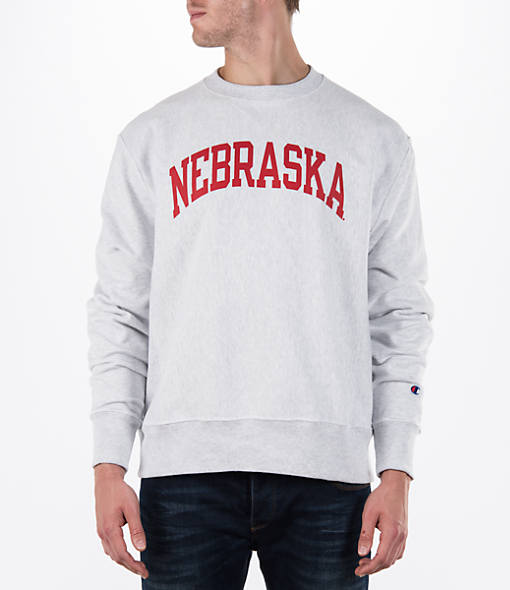 Men's Champion Nebraska Cornhuskers College Weave Crew Sweatshirt