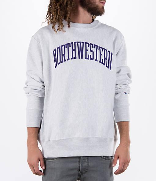 Men's Champion Northwestern Wildcats College Weave Crew Sweatshirt