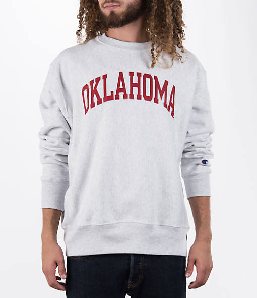 Men's Champion Oklahoma Sooners College Weave Crew Sweatshirt