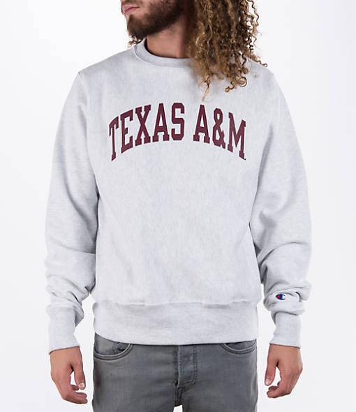 Men's Champion Texas A&M Aggies College Weave Crew Sweatshirt