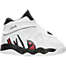 Right view of Boys' Toddler Air Jordan Retro 8 Basketball Shoes in White/Gym Red/Black/Wolf Grey