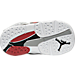Bottom view of Boys' Toddler Air Jordan Retro 8 Basketball Shoes in White/Gym Red/Black/Wolf Grey