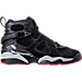 Right view of Boys' Grade School Air Jordan Retro 8 Basketball Shoes in Black/Gym Red/Wolf Grey