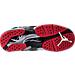 Bottom view of Boys' Grade School Air Jordan Retro 8 Basketball Shoes in Black/Gym Red/Wolf Grey