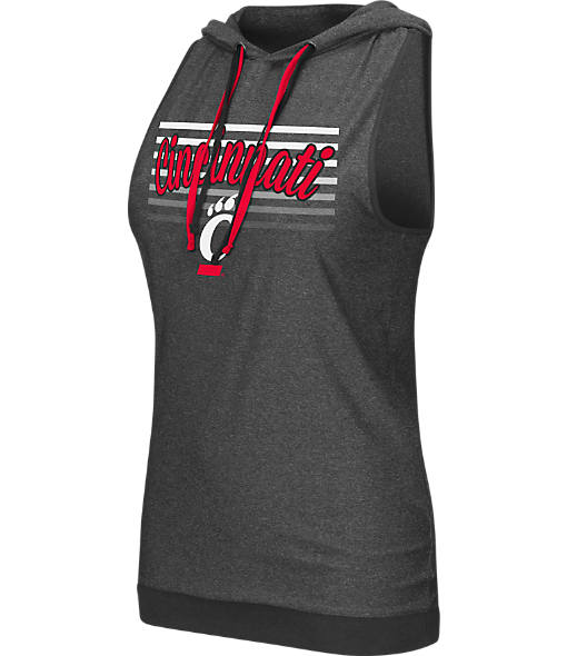 Women's Stadium Cincinnati Bearcats College Unagi Cross Back Sleeveless Hoodie