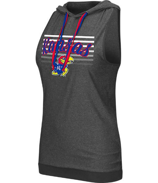 Women's Stadium Kansas Jayhawks College Unagi Cross Back Sleeveless Hoodie