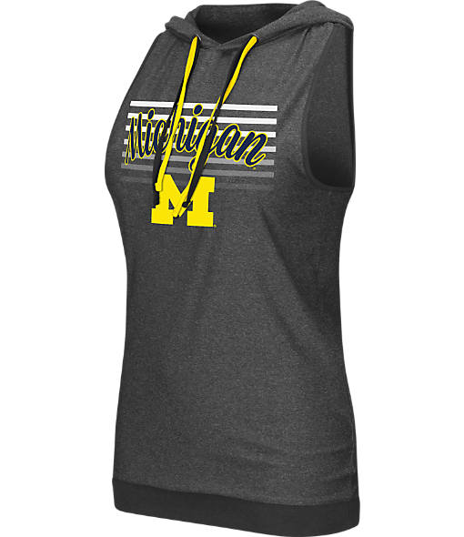 Women's Stadium Michigan Wolverines College Unagi Cross Back Sleeveless Hoodie
