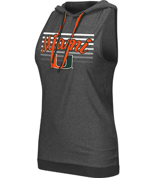 Women's Stadium Miami Hurricanes College Unagi Cross Back Sleeveless Hoodie