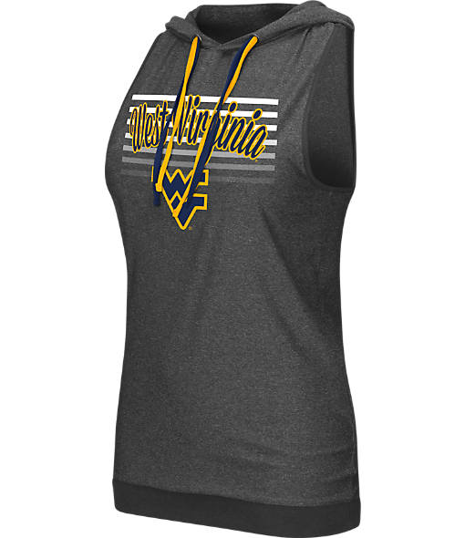 Women's Stadium West Virginia Mountaineers College Unagi Cross Back Sleeveless Hoodie