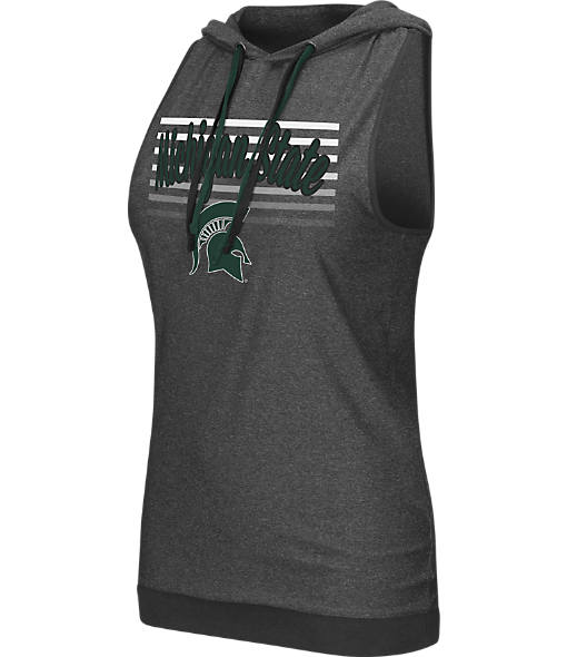 Women's Stadium Michigan State Spartans College Unagi Cross Back Sleeveless Hoodie