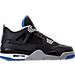 Right view of Men's Air Jordan Retro 4 Basketball Shoes in Black/Soar/Matte Silver
