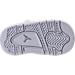 Bottom view of Boys' Toddler Jordan Retro 4 Basketball Shoes in White/Metallic Silver/Pure Platinum