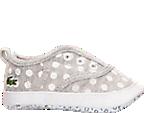 Girls' Infant Lacoste Rene Crib Shoes