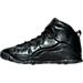 Left view of Boys' Grade School Jordan Retro 10 Basketball Shoes in Black/Dark Grey/Metallic Gold