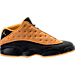 Right view of Men's Air Jordan Retro 13 Low Basketball Shoes in Black/Chutney