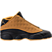Right view of Boys' Grade School Air Jordan Retro 13 Low Basketball Shoes in Black/Chutney