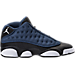 Right view of Boys' Grade School Air Jordan Retro 13 Low Basketball Shoes in Brave Blue/Metallic Silver/Black