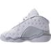 Left view of Boys' Toddler Jordan Retro 13 Low Basketball Shoes in White/Metallic Silver/Pure Platinum