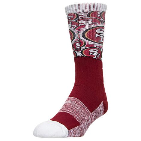For Bare Feet San Francisco 49ers NFL The Show Promo Crew Socks