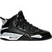 Right view of Men's Air Jordan Retro Dub Zero Off-Court Shoes in Black/Wolf Grey/White