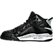 Left view of Men's Air Jordan Retro Dub Zero Off-Court Shoes in Black/Wolf Grey/White