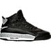 Right view of Boys' Grade School Jordan Dub Zero Basketball Shoes in Black/Wolf Grey/White