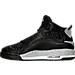 Left view of Boys' Grade School Jordan Dub Zero Basketball Shoes in Black/Wolf Grey/White